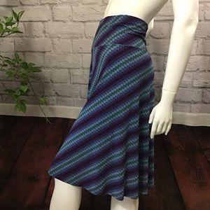 🆕🌻 SALE! 3/$20 Blue striped swirl Aline skirt